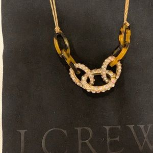 Tortoise and crystal JCrew necklace